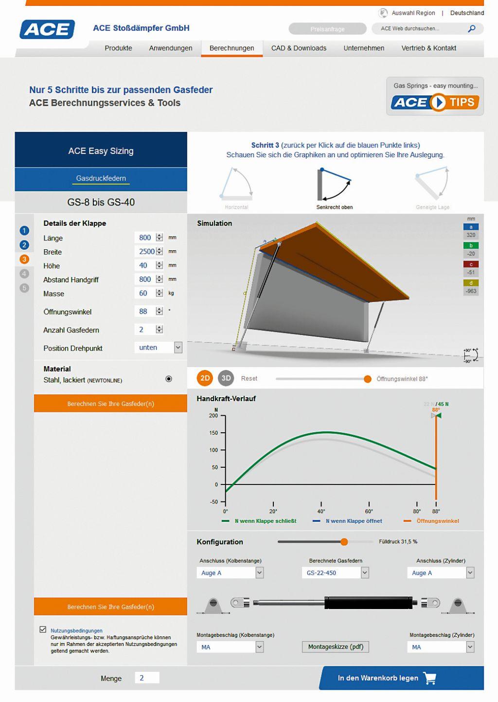 ace industriegasfedern effektive helfer beim bandagieren. Black Bedroom Furniture Sets. Home Design Ideas